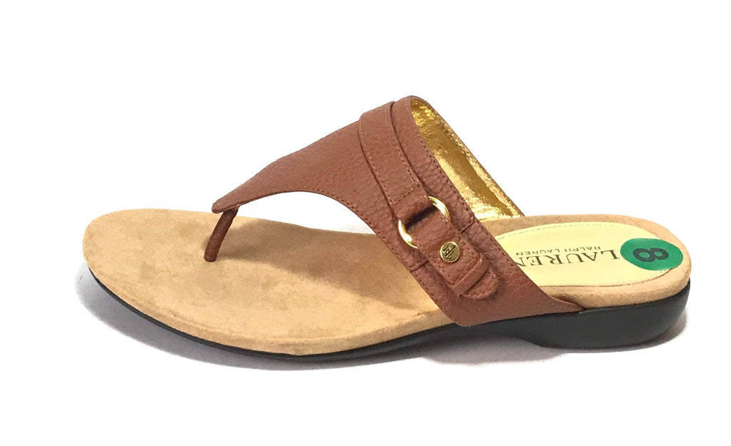 Lauren by Ralph Lauren Brown Thong Sandals | Brand New |