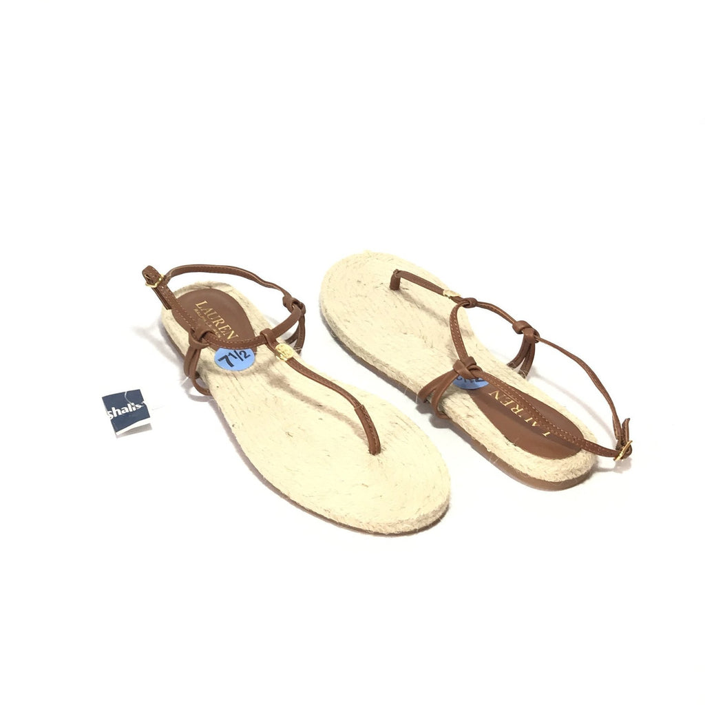 Lauren by Ralph Lauren Jute Thong Sandals | Brand New |