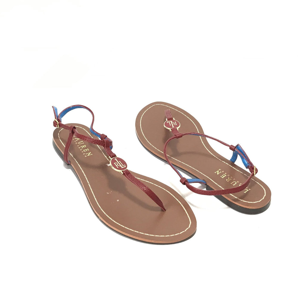 Lauren Ralph Lauren Red 'Aimon' Thong Sandals | Brand New |