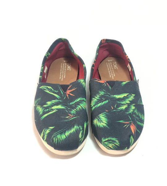 TOMS Leaf Print Canvas Women's Classic Shoes | Pre Loved |