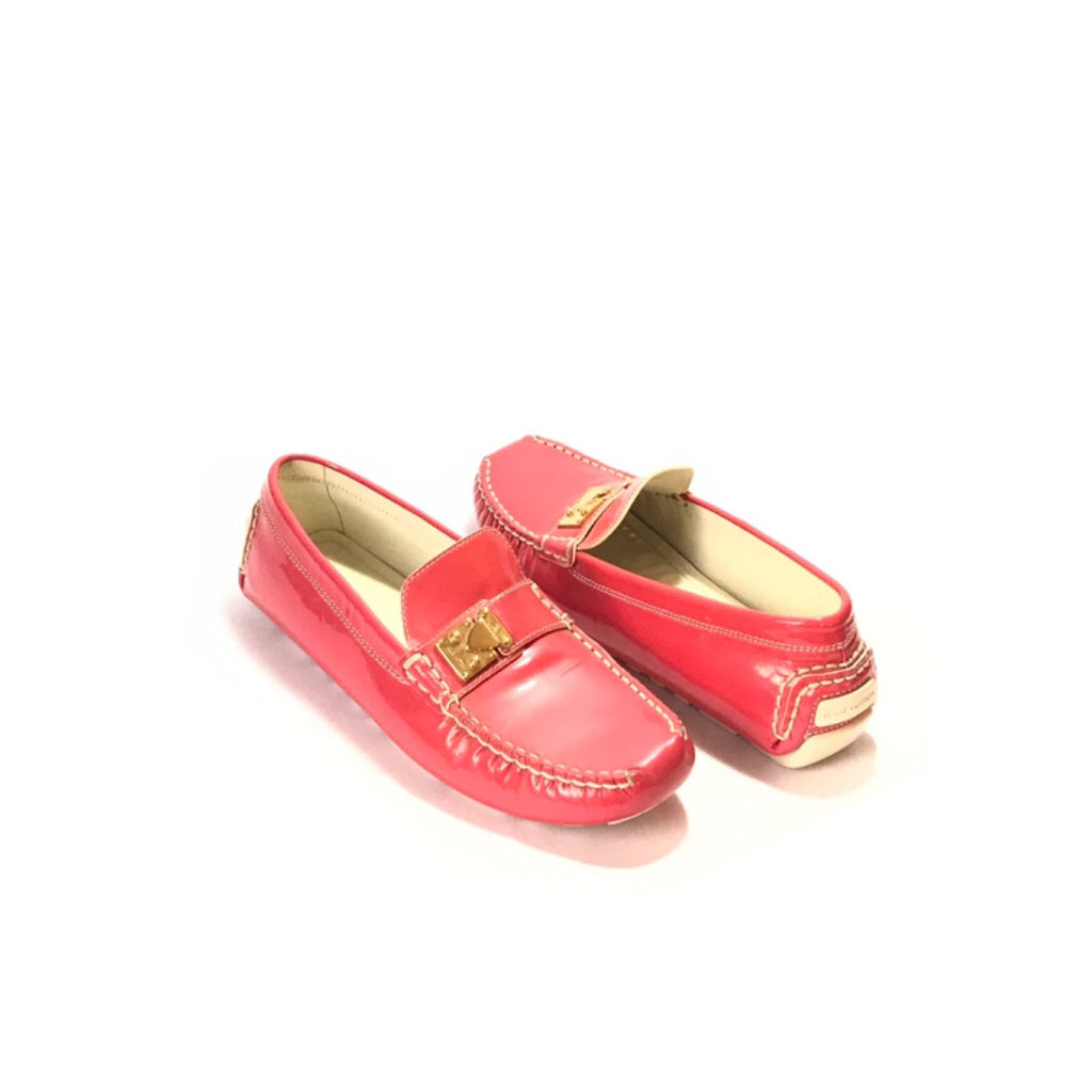 Louis Vuitton Coral Pink Patent Leather Lombok Loafers | Pre Loved |
