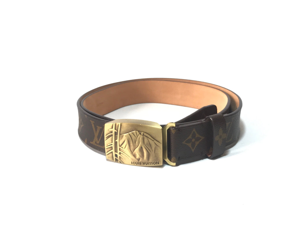Louis Vuitton Men's Monogram Canvas Leather Belt | Like New |