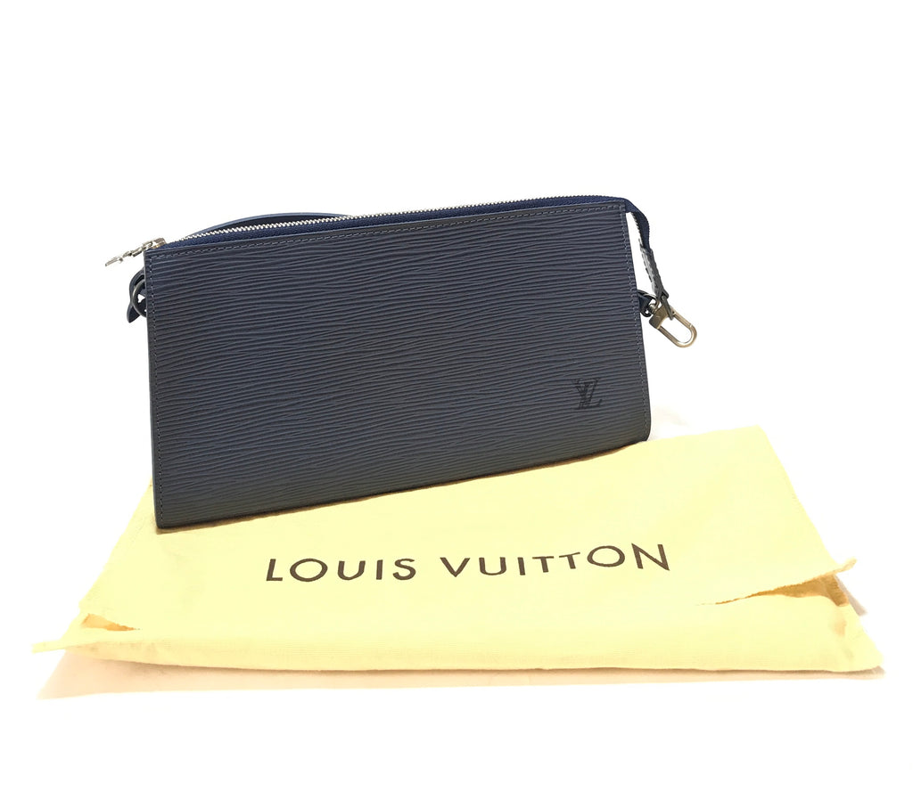 Louis Vuitton Navy Epi Leather Pochette | Gently Used |