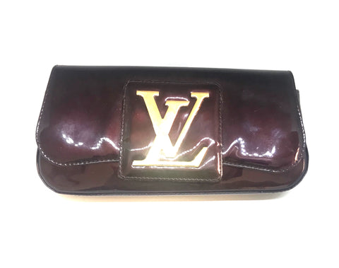 Louis Vuitton Oxblood Patent Leather Sobe Clutch | Pre Loved |