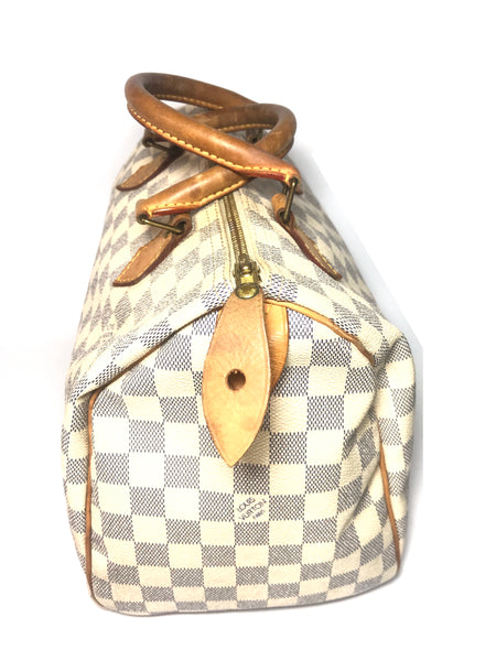 Louis Vuitton 'Speedy 30 Damier Azur' Bag | Pre Loved |