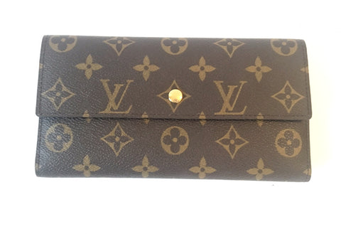 Louis Vuitton Monogram Canvas Long Envelope Wallet | Like New |