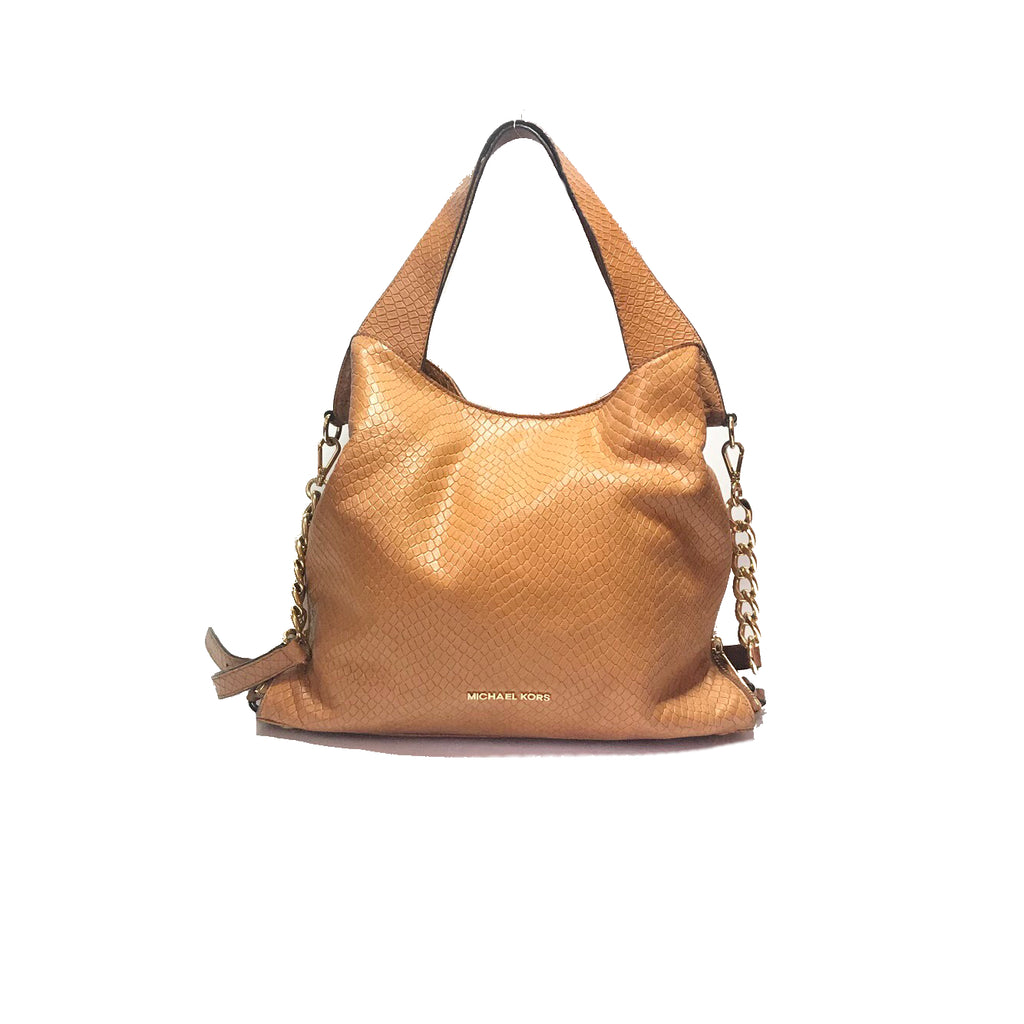 Michael Kors Tan Textured Leather Hobo Bag | Gently Used |