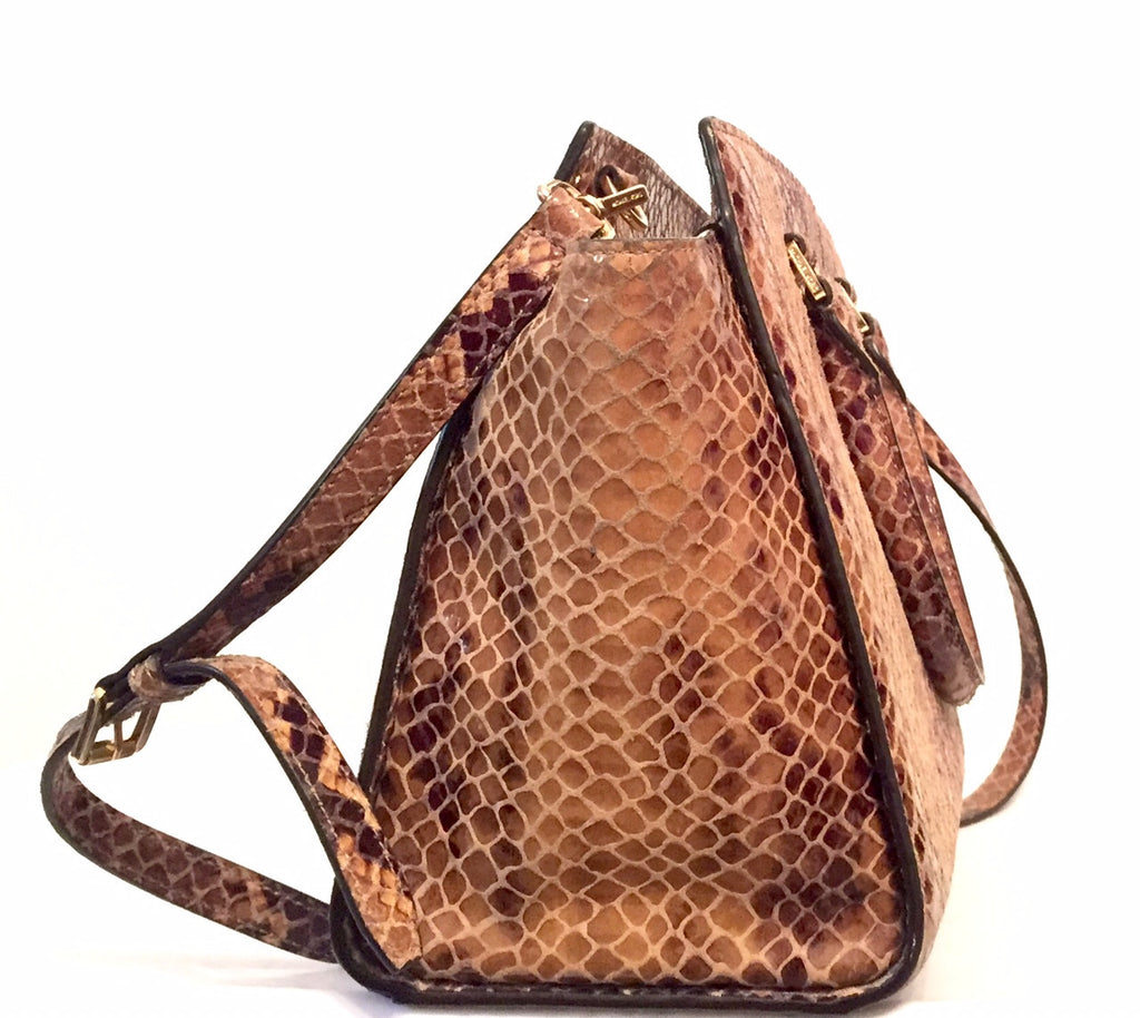 Michael Kors Brown Snakeskin Selma Bag   Gently Used     Secret Stash 5076517226