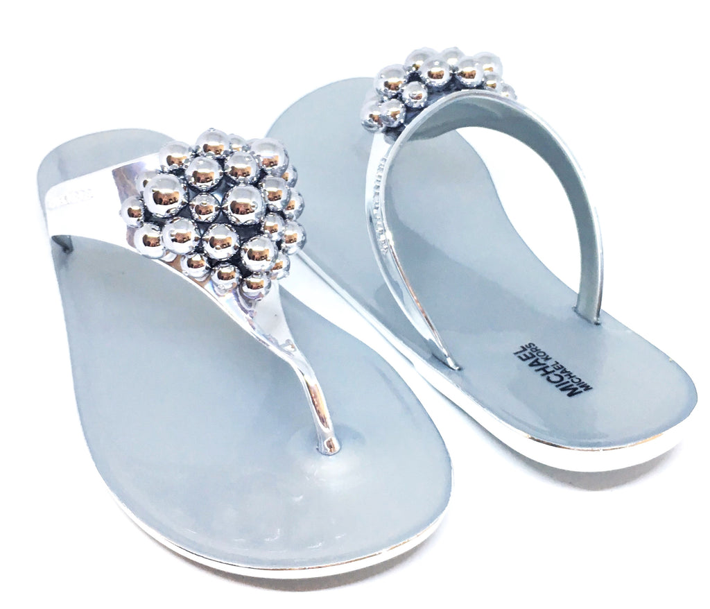 MICHAEL Michael Kors KIRBY Jelly Thong Sandals | Brand New |