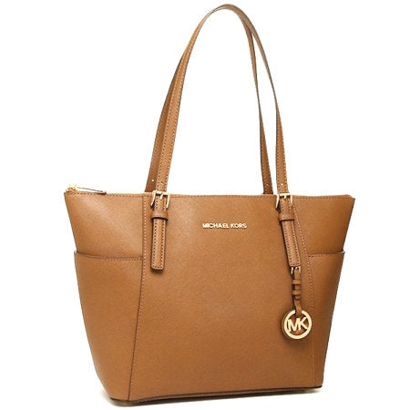 Michael Kors Jet Set Top-Zip Saffiano Leather Tote | Gently Used |