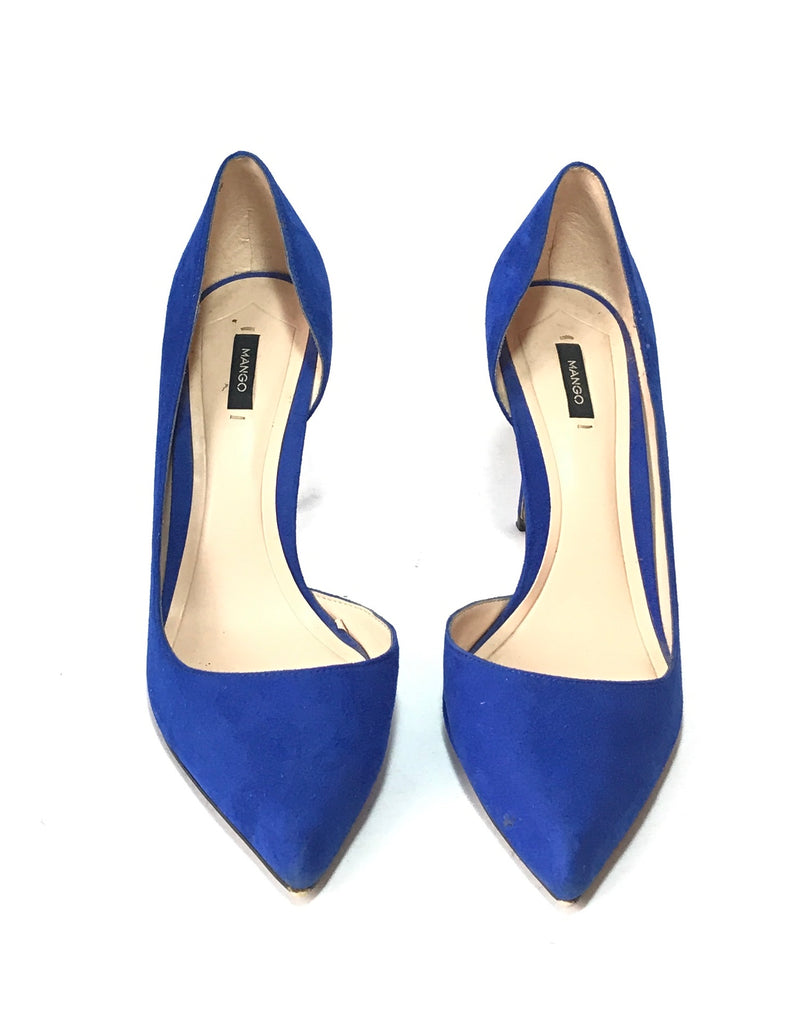 MANGO Cobalt Blue Suede Pumps | Gently Used |