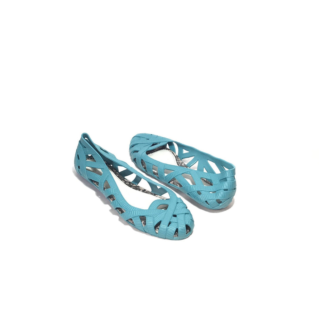 MELISSA X Jason Wu WEB Teal Blue BALLET FLATS | LIKE NEW |