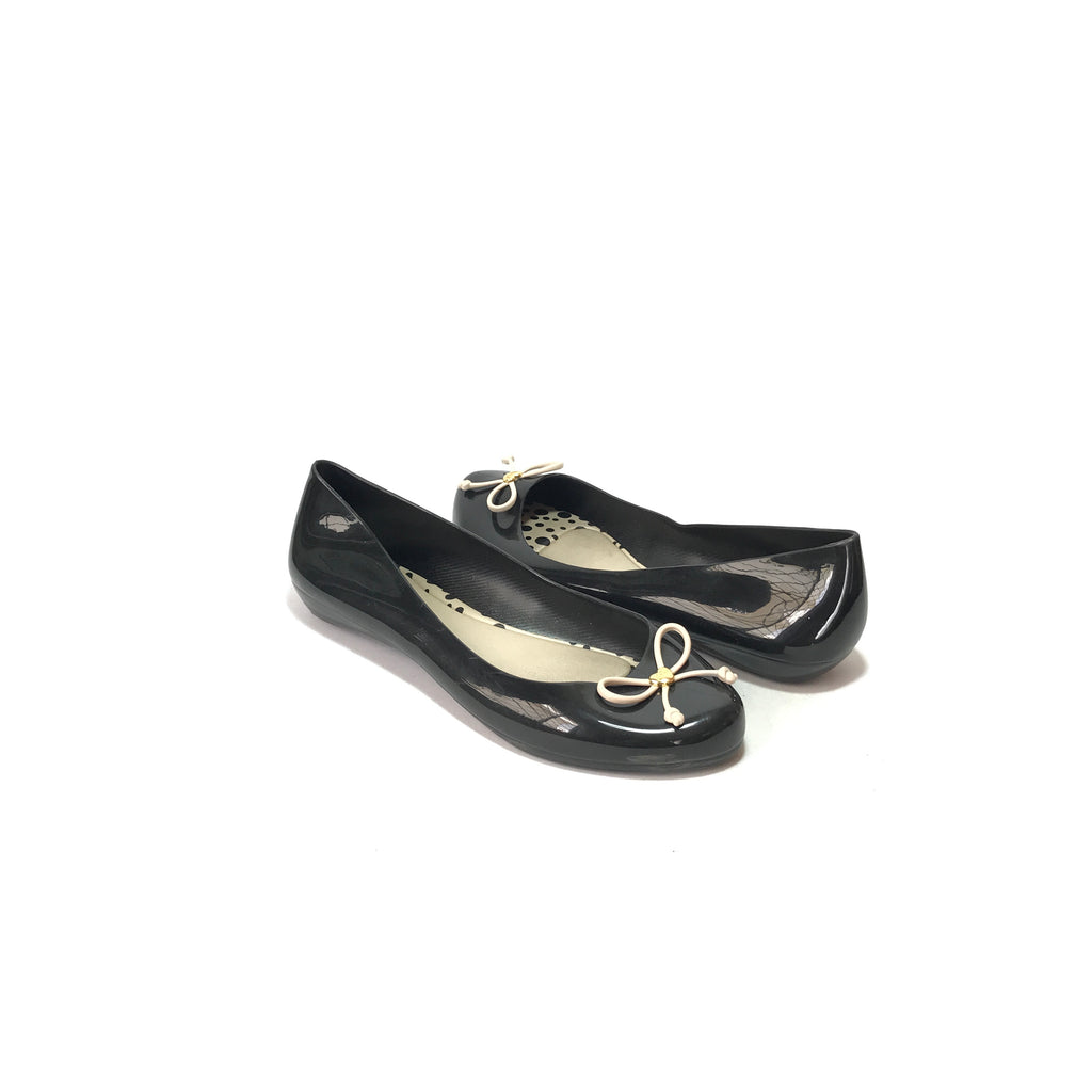 Melissa Black Ballet Flats  | Gently Used |
