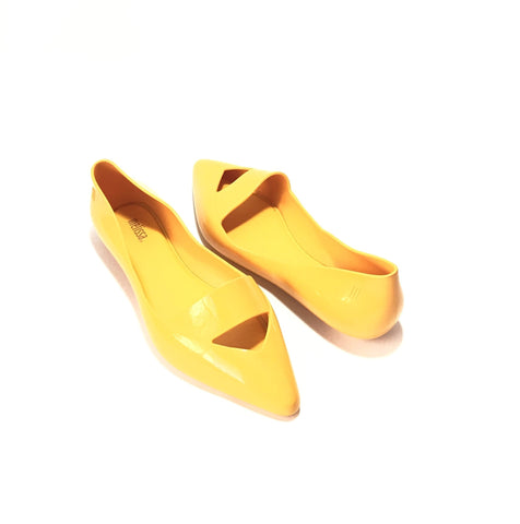 Melissa Maisie Yellow Pointed Pumps | Like New |