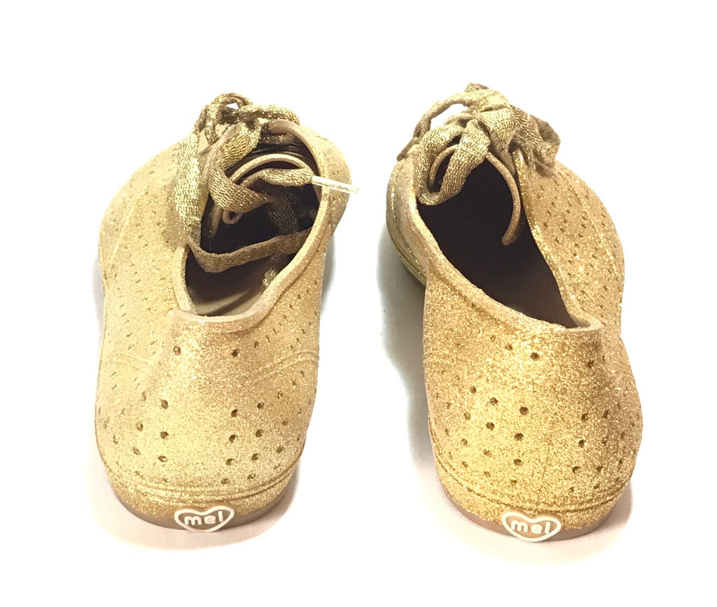Melissa Gold Glitter Sneakers | Like New |