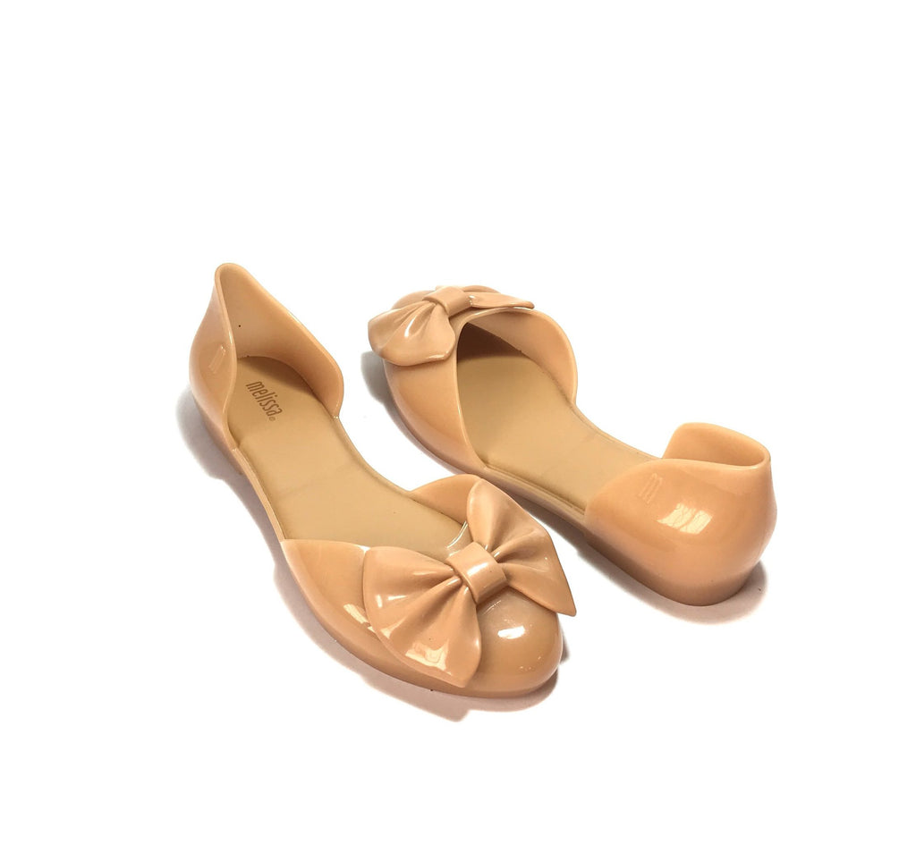 Melissa Angel Nude Beige Bow Sandals | Gently Used |