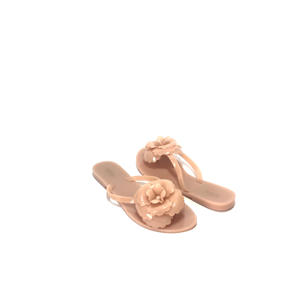 Melissa Nude Flower Jelly Sandals | Like New |