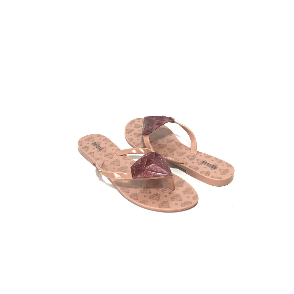 Melissa Pink Diamond Thong Sandals | Like New |