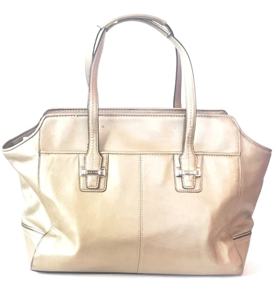 Coach Metallic Leather Tote Bag | Pre Loved |