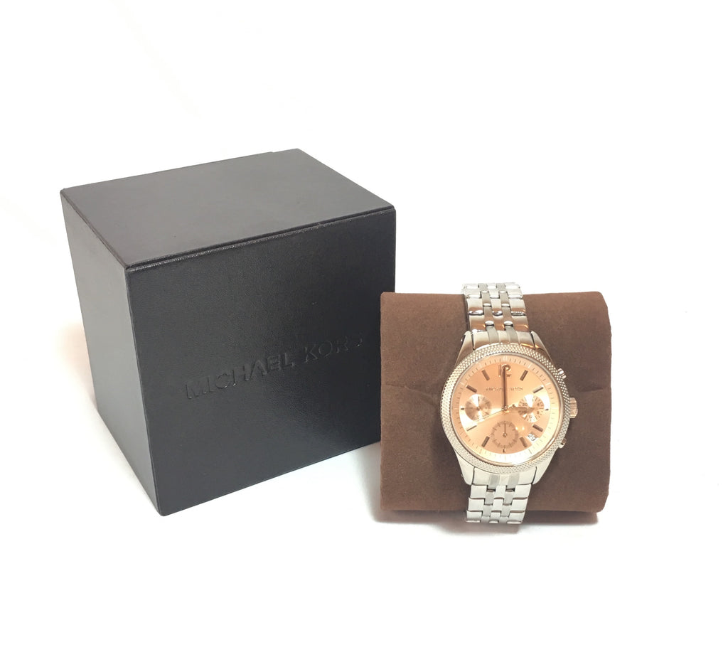 Michael Kors Silver 6130 Chronograph Japan Movement Watch | Brand New |