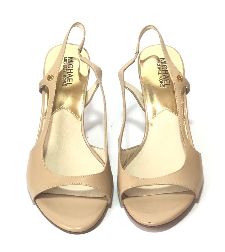 Michael Kors Beige Patent Leather Heels | Like New |