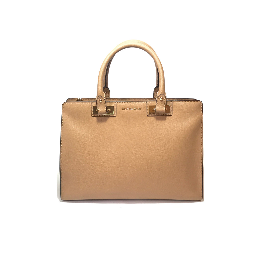 Michael Kors Beige Leather Tote | Like New |