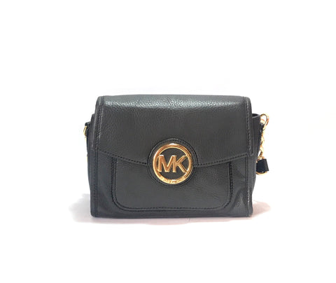 Michael Kors Black Leather Satchel | Gently Used |