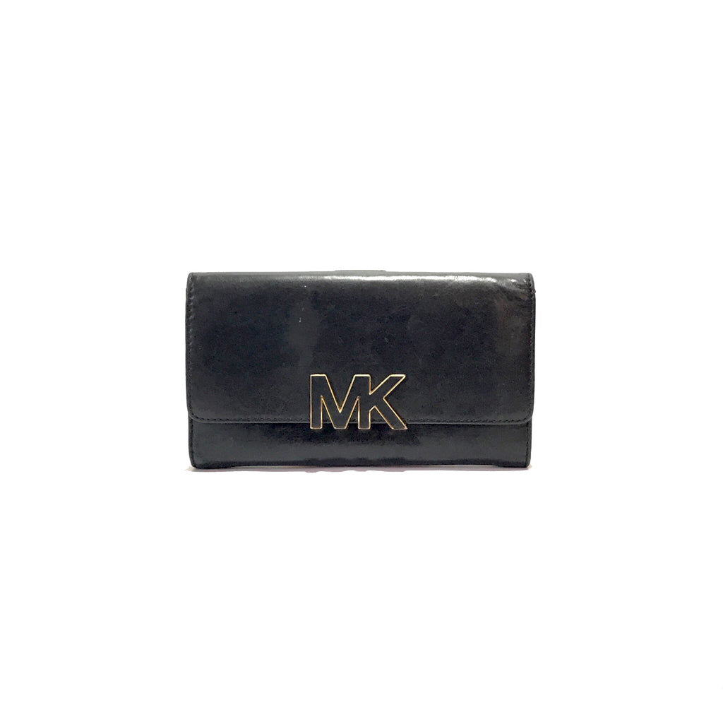 Michael Kors Black Wallet | Pre Loved |