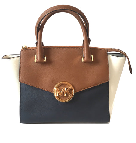 Michael Kors Tricolor 'Hudson' Leather Satchel | Gently Used |