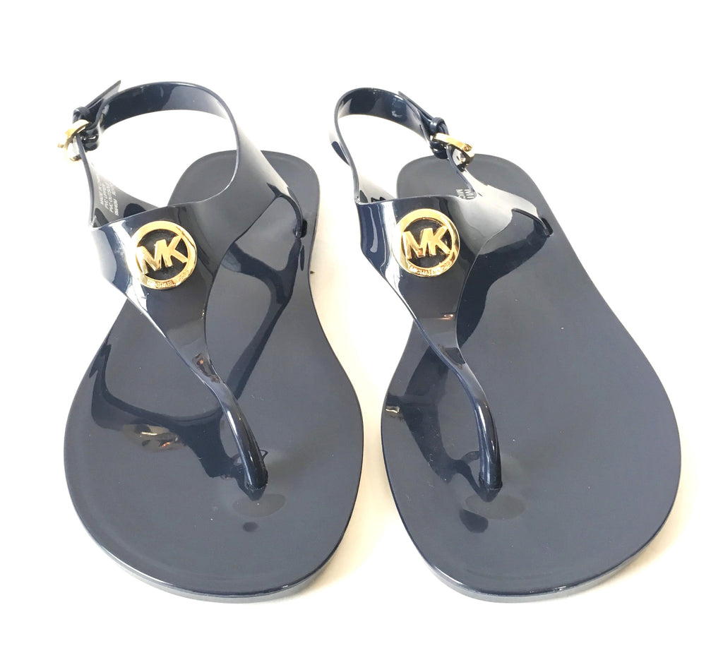69f7bf3b6328 MICHAEL Michael Kors Navy Blue Jelly Thong Sandals
