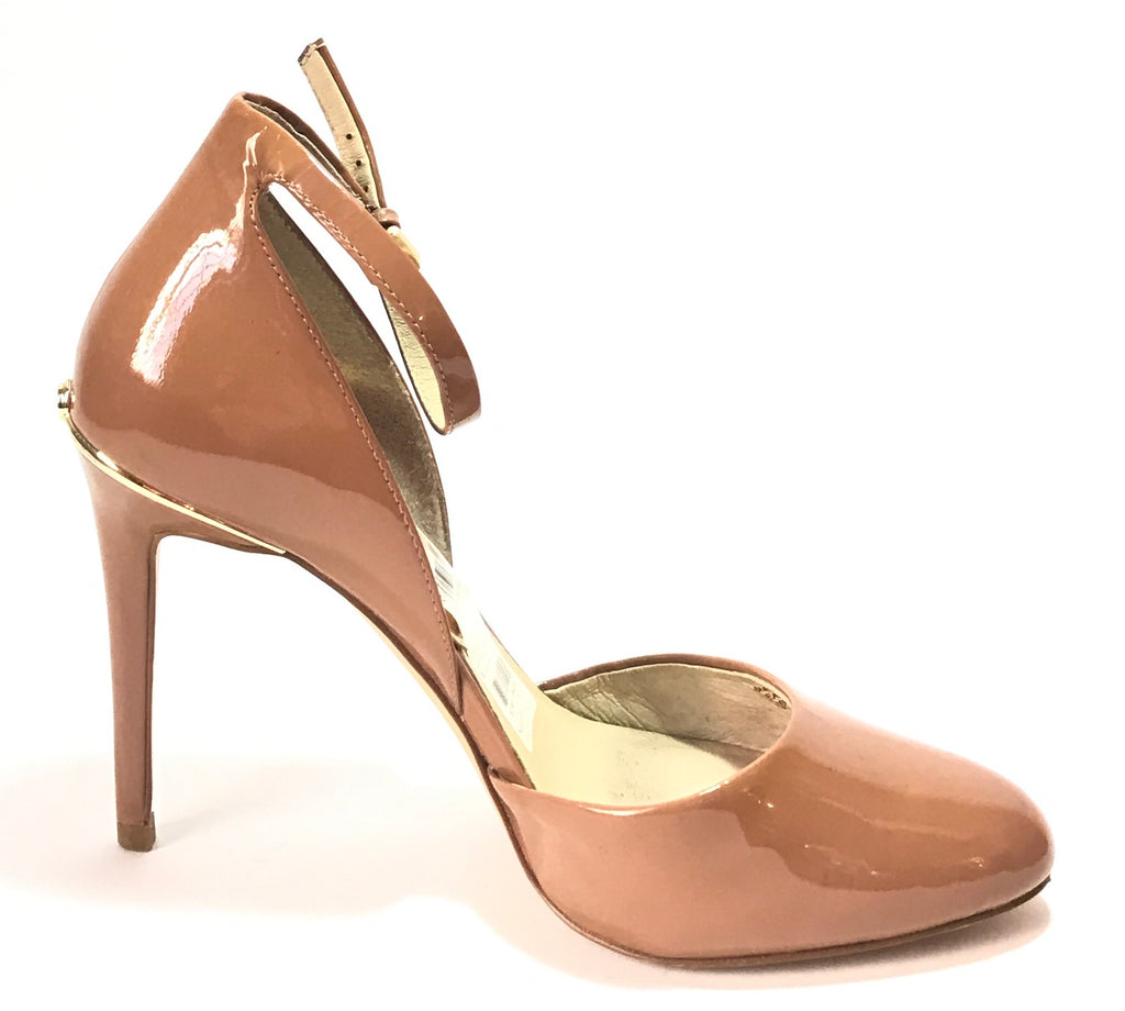 Michael Kors GEORGIA Tan Ankle Strap Pumps | Gently Used |