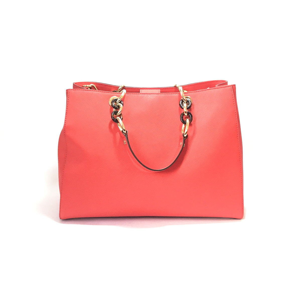 cdf89412e3 Michael Kors  CYNTHIA  Coral Leather Satchel