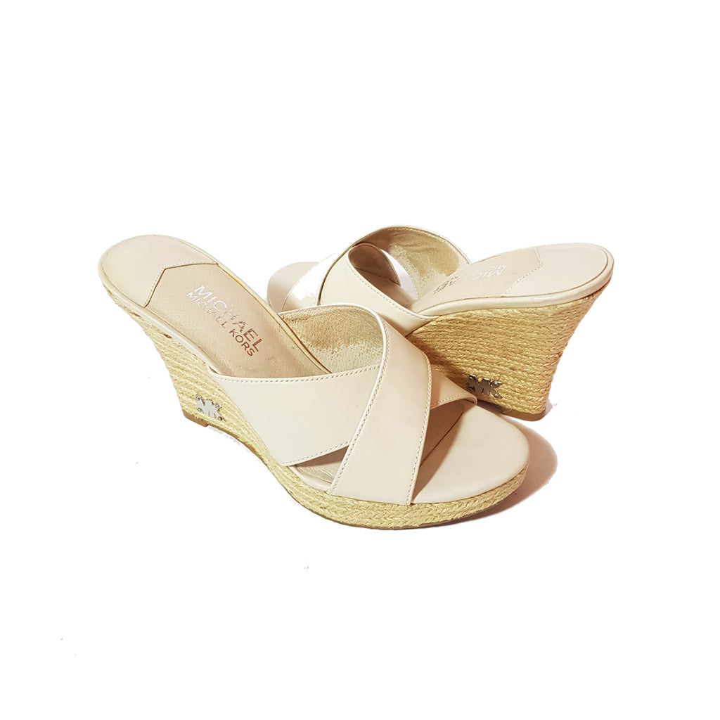 Michael Kors Cream Leather & Jute Wedges | Pre Loved |
