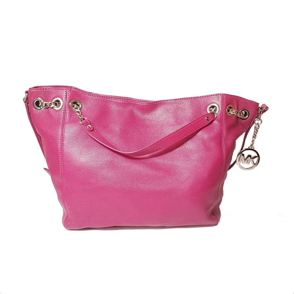 Michael Kors Deep Pink Jet Set Chain Shoulder Tote | Gently Used |