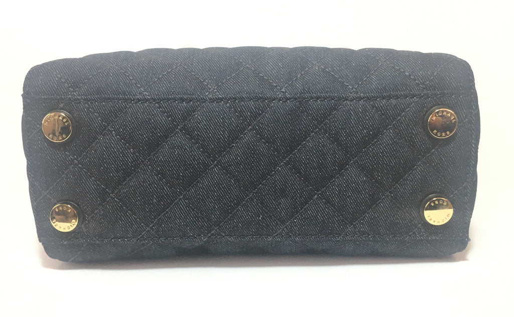 Michael Kors 'Susannah' Quilted Dark Denim Small Tote | Brand New |