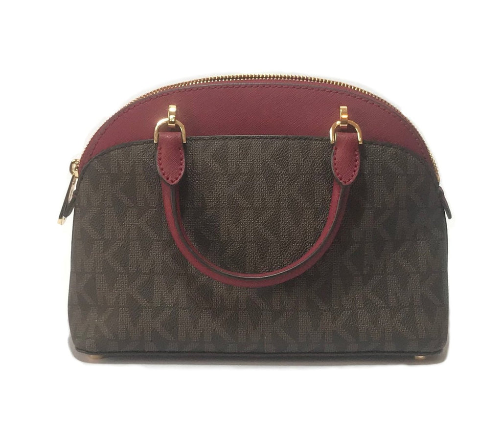 Michael Kors Small 'Emmy' Monogram Dome Satchel | Brand New |