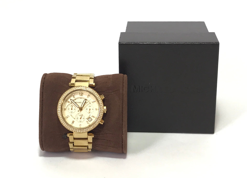 Michael Kors MK5354 Gold Chronograph Watch | Gently Used |