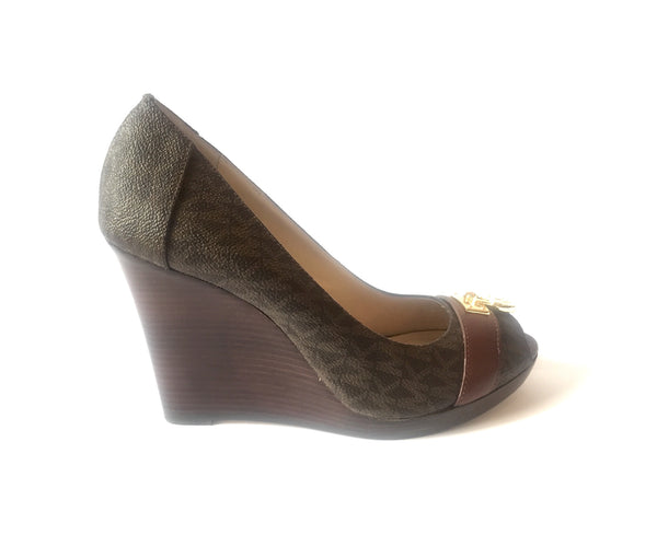 Michael Kors Hamilton Wedges | Like New | - Secret Stash