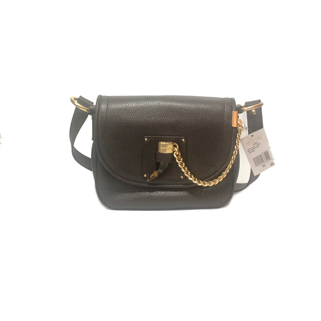 Michael Kors James Brown Saddle Crossbody Bag  | Brand New |