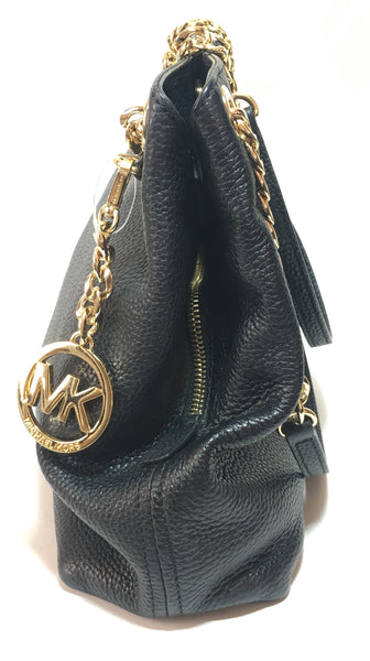 Michael Kors Black Jet Set Chain Item Leather Tote | Gently Used |