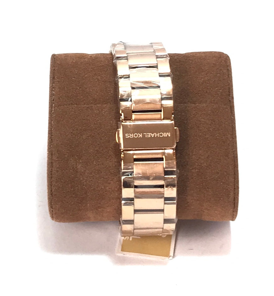 Michael Kors MK5263 Rose Gold Rhinestone Watch | Brand New |