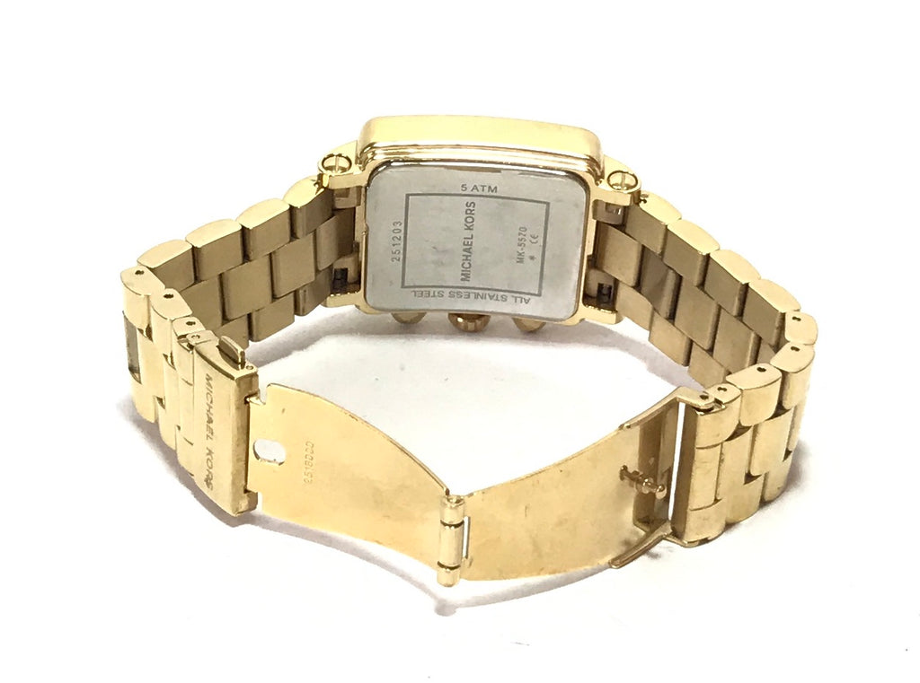Michael Kors MK5570 'Hudson' Gold Rhinestone Watch | Gently Used |
