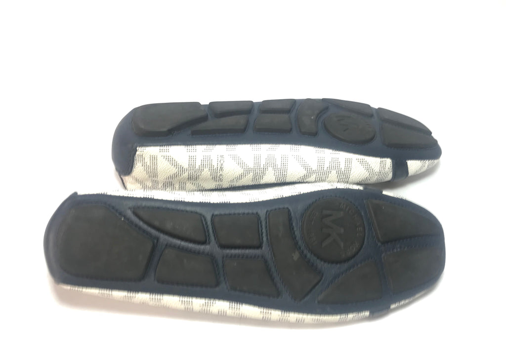 Michael Kors FULTON Signature PVC/ Leather Ballet Flats | Gently Used |