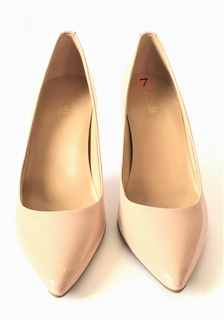 MICHAEL Michael Kors Nude Patent Leather Pumps | Like New |