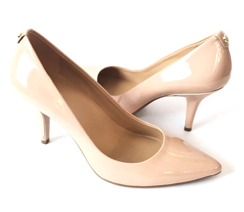 MICHAEL Michael Kors Nude Patent Leather Pumps | Brand New |