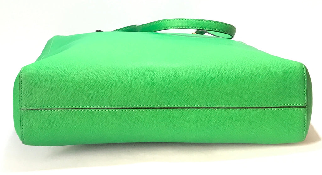 Michael Kors Green Leather Large Tote | Like New |