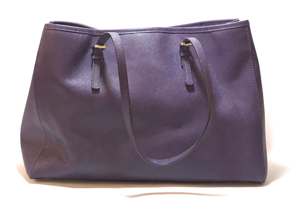 Michael Kors Jet Set Purple Saffiano Leather Tote | Gently Used |