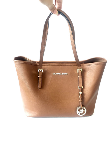 Michael Kors Small 'Jet Set Saffiano' Leather Tote | Pre Loved | - Secret Stash