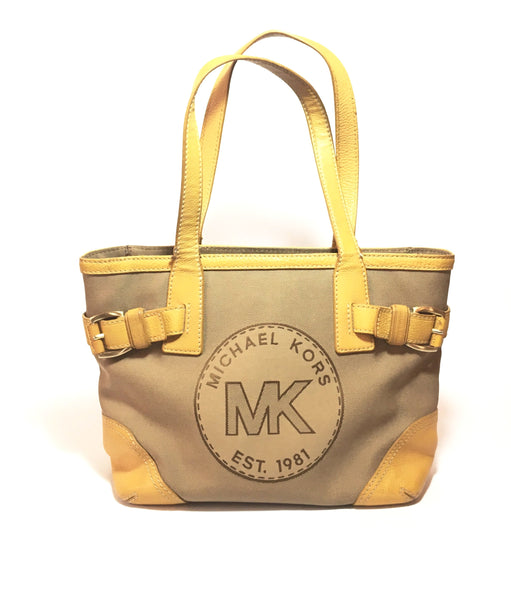 Michael Kors Brown Canvas Vintage Shoulder Bag | Pre Loved |