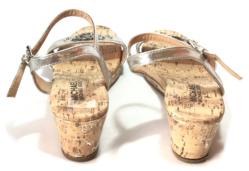 Michael Kors Silver Cork Wedges | Gently Used |